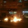 Contenedores ardiendo en la calle Vitoria
