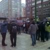De nuevo los vecinos se han concentrado para evitar reanudar las obras del Bulevar.