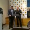 El concejal Salvador de Foronda presentó la Memoria de la Policía 2013 el pasado viernes.