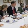 El presidente de FAE, Miguel Ángel Benavente durante el desayuno informativo