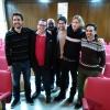 Parte de los miembros de la candidatura de Claro que Podemos Castilla y León.